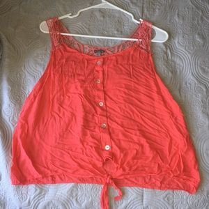 Back laced tank top